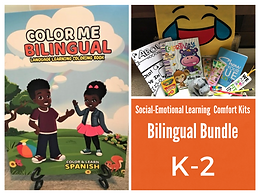 Color Me Bilingual Coloring Book with SEL Student Comfort Kit K-2