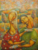 Man And Woman Lovers Painting