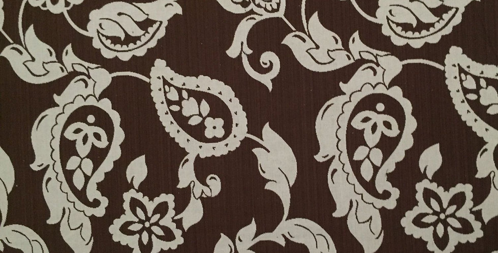 Chocolate Brown Paisley