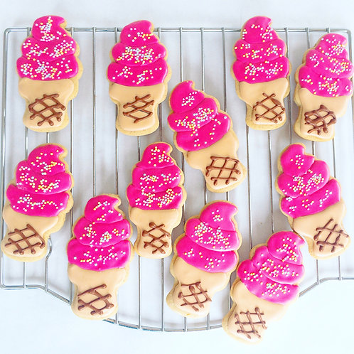 Ice cream royal icing sugar cookies