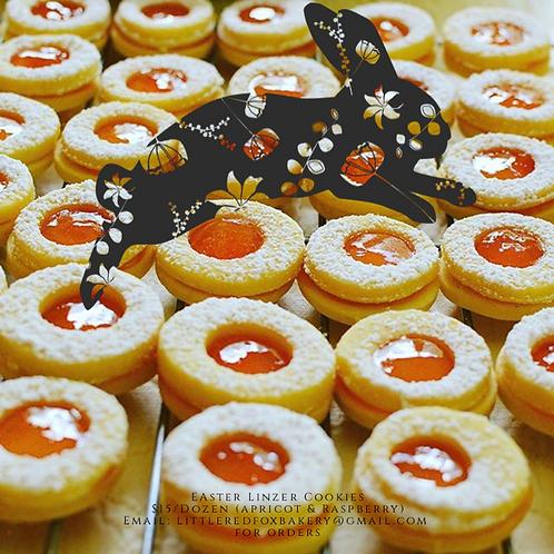 Easter Linzer Cookies