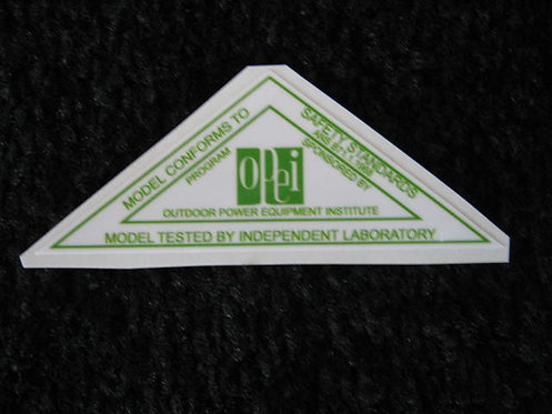 LAWN-BOY 1968 OPEI GREEN & WHITE SAFETY STANDARDS DECAL