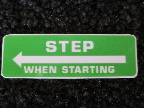 LAWN-BOY STEP WHEN STARTING DECK DECAL PART # 609993