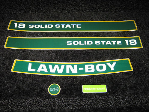 "LAWN-BOY 19"" D SERIES SOLID STATE 5 PIECE DECAL SET"