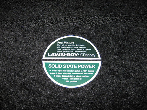 LAWN-BOY JCPENNEY SHROUD 2 PIECE SET - SOLID STATE POWER