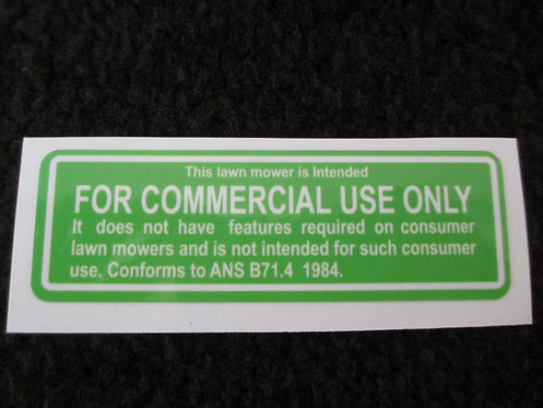 LAWN-BOY FOR COMMERCIAL USE ONLY DECK DECAL