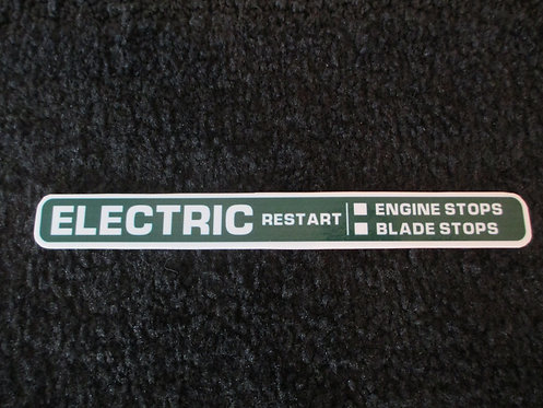 LAWN-BOY ELECTRIC RESTART DECK DECAL 1980's MODEL