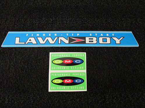 LAWN-BOY 3 PIECE DECAL SET EARLY 60's MODEL
