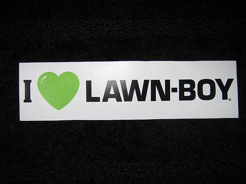 I LOVE LAWN-BOY STICKER