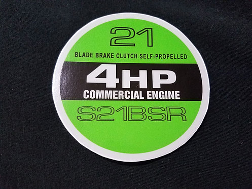 LAWN-BOY S21BSR 4HP COMMERCIAL RECOIL DECAL
