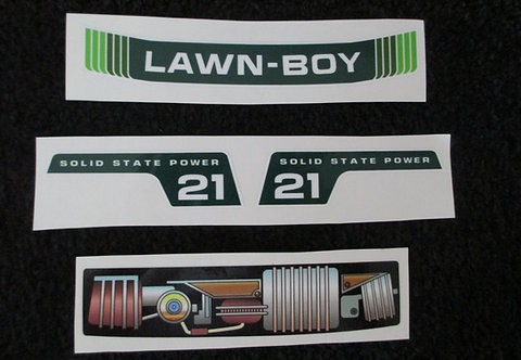 "LAWN-BOY 4 PIECE TOY DECAL SET 21"" MODEL"