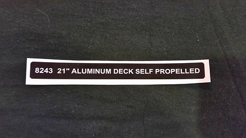 LAWN-BOY MODEL 8243 ALUMINUM DECK DECAL