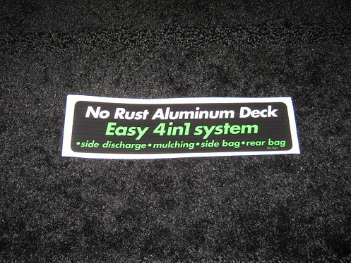 LAWN-BOY NO RUST ALUMINUM DECK EASY 4 IN1 SYSTEM DECAL