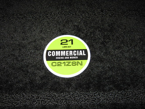 """LAWN-BOY 21"""" COMMERCIAL ENGINE AND MOWER C21ZSN RECOIL DECAL"""