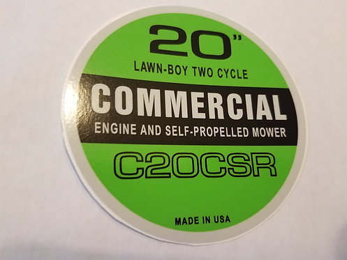 LAWN-BOY COMMERCIAL RECOIL DECAL. MODEL C20CSR