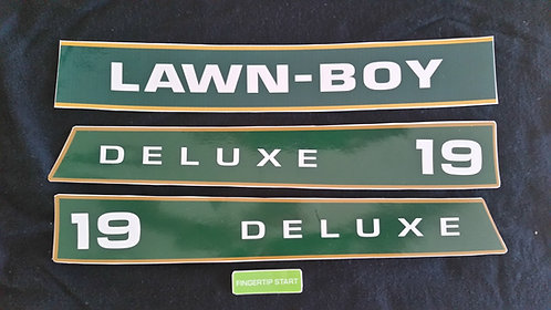 "LAWN-BOY 19"" DELUXE 4 PC. DECAL SET"