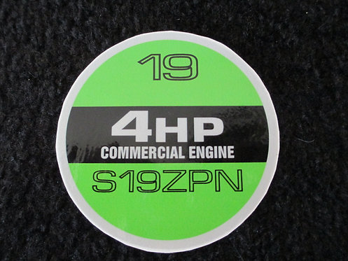 "LAWN-BOY 19"" COMMERCIAL 4HP/ S19ZPN RECOIL DECAL"