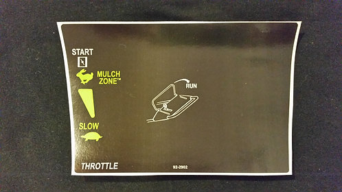 LAWN-BOY GOLD SERIES CONSOLE DECAL 92-2902