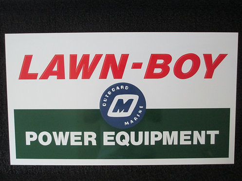 LAWN-BOY ALUMINUM SIGN ( L 23 3/4 X H 13 3/4)