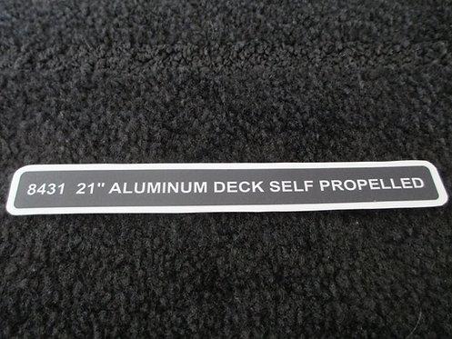 "LAWN-BOY 21"" ALUMINUM DECK SELF PROPELLED DECK DECAL MODEL 8431"