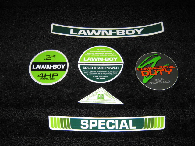 GRAVEYARD MOWERZ LAWN BOY REPRODUCTION DECALS SEMINOLE FL
