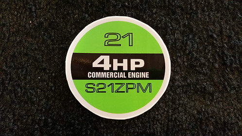 LAWN-BOY COMMERCIAL S21ZPM RECOIL DECAL