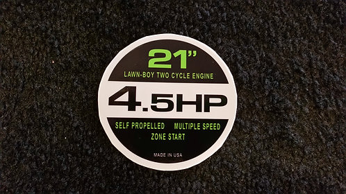 LAWN-BOY TWO CYCLE 4.5HP RECOIL DECAL