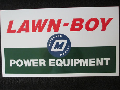 LAWN-BOY PVC SIGN ( L 23 3/4 X H 13 3/4)