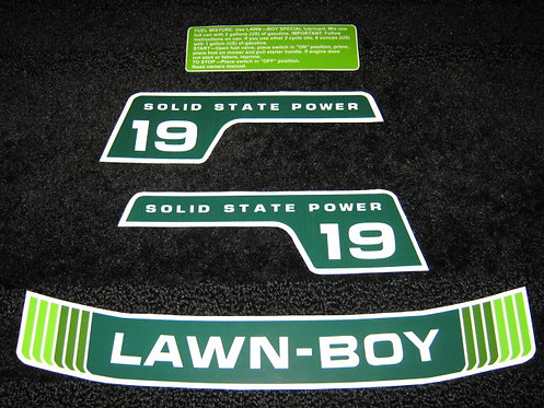 "LAWN-BOY 19"" F SERIES SOLID STATE POWER 4 PIECE DECAL SET"