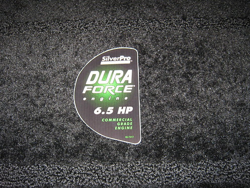 LAWN-BOY SILVERPRO DURA FORCE ENGINE 6.5 HP COMMERCIAL GRADE ENGINE DECAL