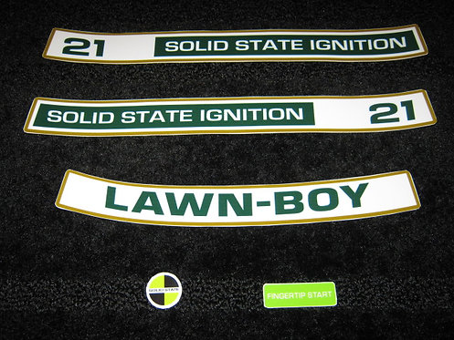 "LAWN-BOY 21""  D SERIES SOLID STATE IGNITION 5 PIECE DECAL SET"