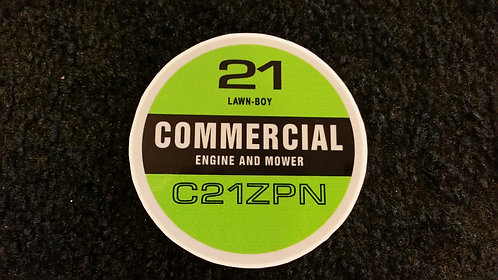 LAWN-BOY C21ZPN COMMERCIAL RECOIL DECAL