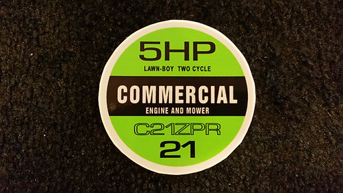 LAWN-BOY COMMERCIAL C21ZPR RECOIL DECAL