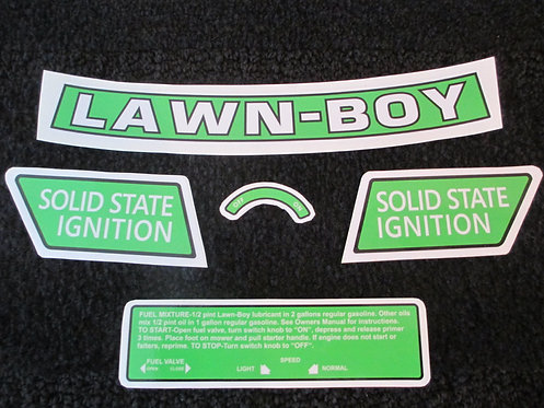 LAWN-BOY 5 PIECE DECAL SET