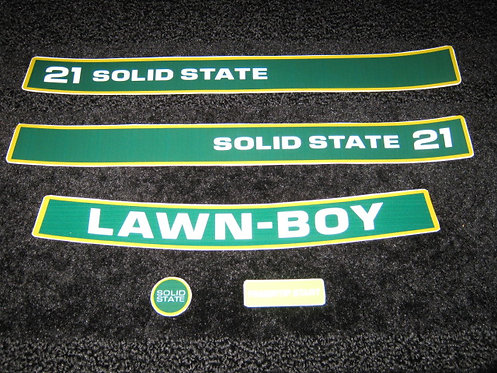 "LAWN-BOY 21""  D SERIES SOLID STATE 5 PIECE DECAL SET"