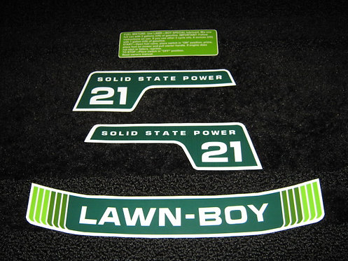 """LAWN-BOY 21""""  F SERIES SOLID STATE POWER 4 PIECE DECAL SET"""