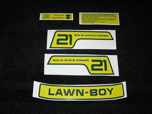 LAWN-BOY PROMOTIONAL MODEL SHROUD DECAL SET