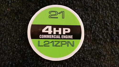 LAWN-BOY COMMERCIAL L21ZPN RECOIL DECAL