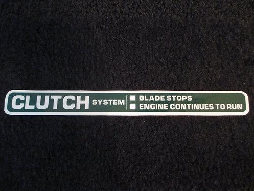 LAWN-BOY CLUTCH SYSTEM DECK DECAL 1980's MODEL