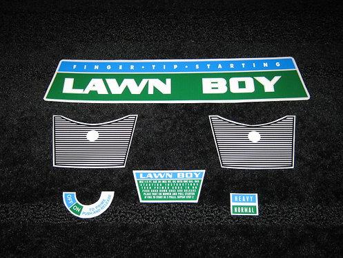 LAWN-BOY 1960'S SHROUD REPLACEMENT 6 PIECE DECAL SET