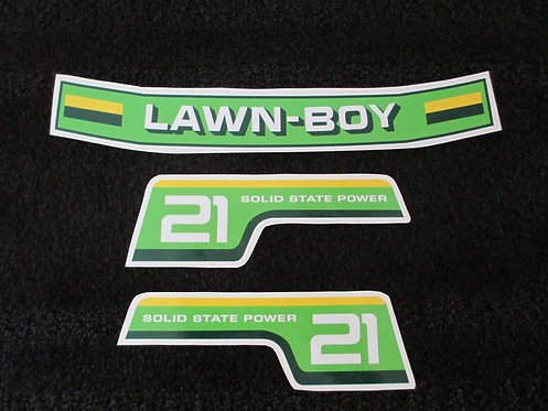 LAWN-BOY 3 PIECE DECAL SET 1980's MODEL 21""