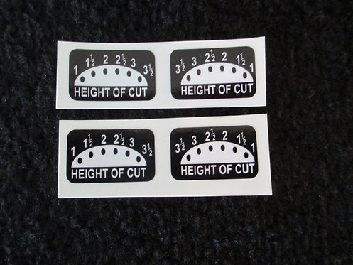 LAWN-BOY 4 PIECE HEIGHT OF CUT DECAL SET