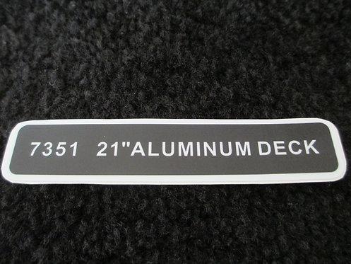 "LAWN-BOY 21"" ALUMINUM DECK DECAL MODEL 7351"