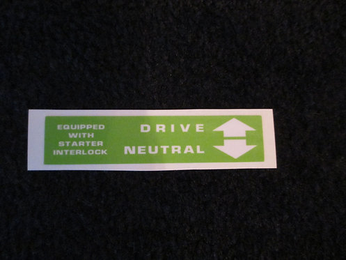 LAWN-BOY GREEN DRIVE/NEUTRAL DECAL