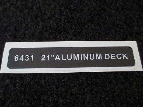 "LAWN-BOY 21"" ALUMINUM DECK DECAL MODEL 6431"
