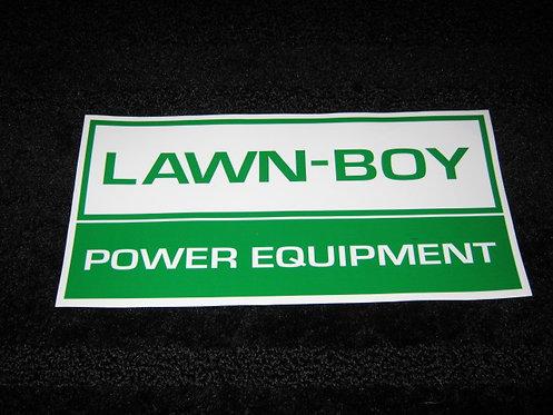 LAWN-BOY POWER EQUIPMENT STORE WINDOW DECAL