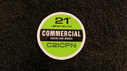LAWN-BOY COMMERCIAL C21CPN RECOIL DECAL
