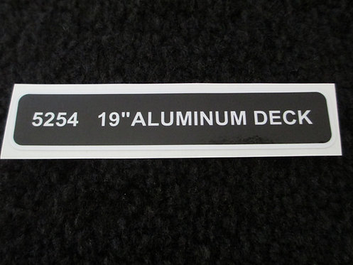 "LAWN-BOY 19"" ALUMINUM DECK DECAL MODEL 5254"