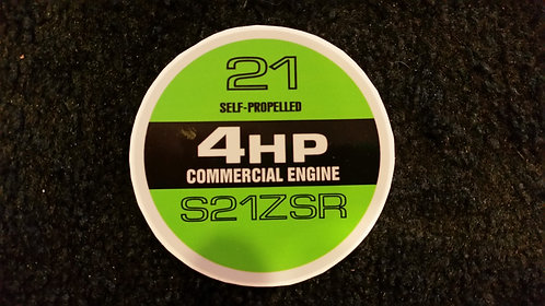 LAWN-BOY COMMERCIAL S21ZSR RECOIL DECAL