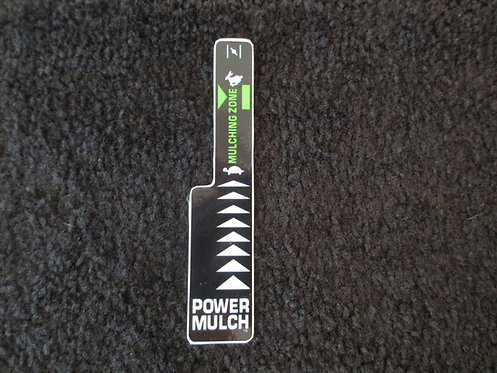LAWN-BOY POWER MULCH THROTTLE DECAL